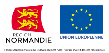logos Région Normandie Union Européenne FEADER