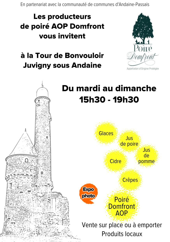 Magasin éphémère à la Tour de Bonvouloir 2017